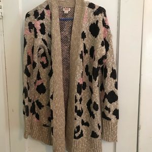 Mossimo size large animal print sweater